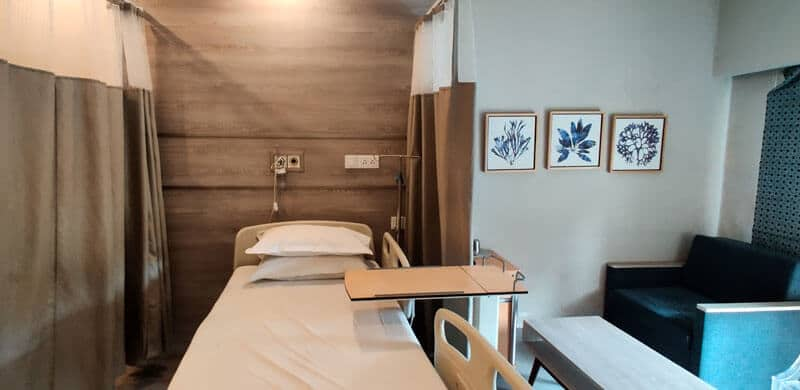 Patient room at CareStay Medical
